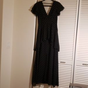Polk dot maxi dress